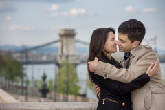 Couple Photography in Budapest by the Chain Bridge