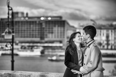 Black and White Engagement Session Photography Hungary