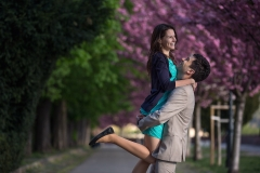Cheerful Engagement Photo in Budapest, Hungary
