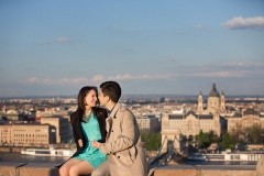 Engaged Couple in Budapest