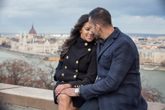 Cute Engaged Couple in Hungary