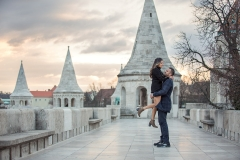 Fisherman's Bastion Winter Engagement Session