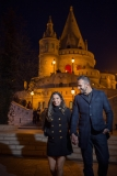 Engagement Session Image by Night in Budapest