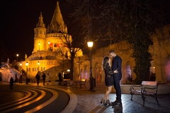 Engagement Session Photos by Night in Budapest, Hungary