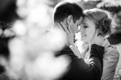 Black and White Engagement Photo in Budapest, Hungary