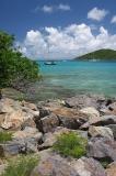 Felsig Küste in Saint Thomas Insel