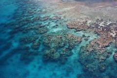 Blaue Ozean bei Roatan
