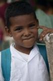 Iskolásfiú - Roatan, Honduras