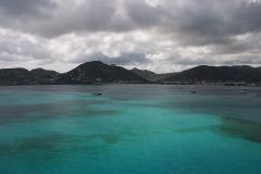 St. Maarten Szigetének Távlati Képe