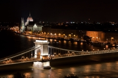 Chain Bridge and Parliament at Night