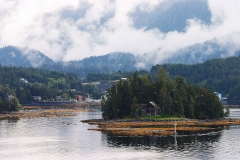 Kleine Insel in Alaska