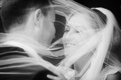 Black and White Wedding Veil