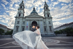 Pre-Wedding Photography by St. Stephen's Cathedral, Budapest