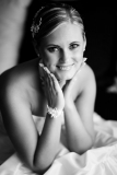 Black and White Bridal Portrait in Hungary