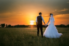 HDR Wedding Image in the Sunset