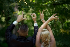 LOVE sign With Hands - A Wedding Idea