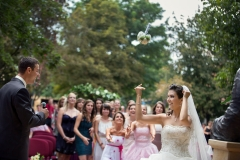 Bouquet Toss and Bridesmaids