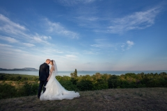 Wedding Couple at Lake Balaton