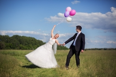 Funny Wedding Picture with Balloons