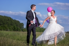 Running with Wedding Balloons