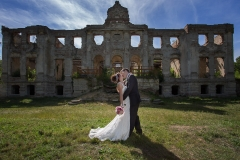 Wedding Photography by an Old Building