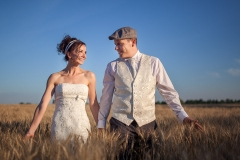 Wedding Image in the Wheat Field