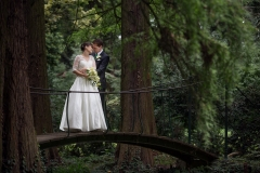 Wedding Couple Walking in a Forest