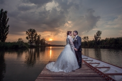 Sunset Wedding Photography on a Pier