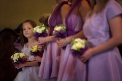 Bridesmaids in Purple Dress