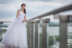 Bridal Portrait on the Balcony