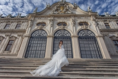 Wedding Photography by the Belvedere Palace, Vienna