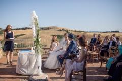 Hochzeitszeremonie in Toskana
