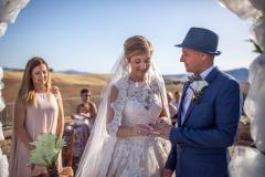Hochzeitsring-Zeremonie in Toskana