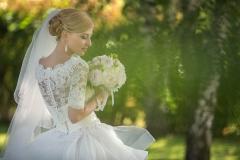 Brautportrait mit Schleier